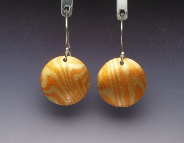 Mokume earrings website